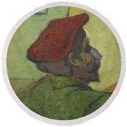 Portrait Of Gauguin Arles December 1888 Vincent Van Gogh 1853  1890 Round Beach Towel
