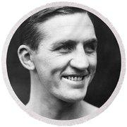 Portrait Of George Carpentier Round Beach Towel