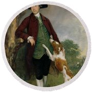 Portrait Of George Venables Vernon Round Beach Towel by Thomas Gainsborough