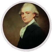 Portrait Of Henry Russell Round Beach Towel