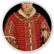 Portrait Of Henry Viii Round Beach Towel by Hans Holbein the Younger