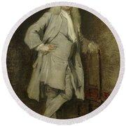 Portrait Of Jan Lepeltak Round Beach Towel