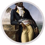 Portrait Of Jean-baptiste Belley Round Beach Towel by Anne Louis Girodet de Roucy-Trioson