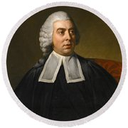 Portrait Of John Lee Attorney-general Wearing Legal Robes Round Beach Towel