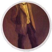 Portrait Of John Mclure Hamilton 1895 Round Beach Towel