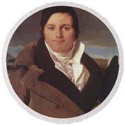 Portrait Of Joseph Antoine Moltedo Round Beach Towel
