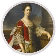 Portrait Of Lady Elizabeth Compton Later Countess Of Burlington Round Beach Towel