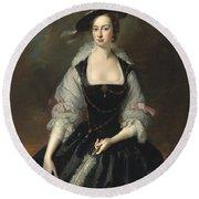 Portrait Of Lady Frances Courtenay Round Beach Towel