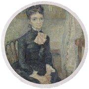 Portrait Of Leonie Rose Charbuy-davy Paris  March  April 1887 Vincent Van Gogh 1853  1890 Round Beach Towel