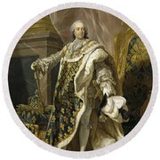 Portrait Of Louis Xv Of France Round Beach Towel