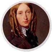 Portrait Of Madame Frederic Reiset 1847 Round Beach Towel