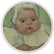 Portrait Of Marcelle Roulin Arles, December 1888 Vincent Van Gogh 1853  1890 Round Beach Towel
