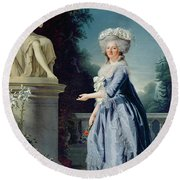 Portrait Of Marie-louise Victoire De France Round Beach Towel