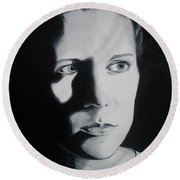 Portrait Of Michelle C. Round Beach Towel