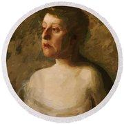 Portrait Of Mrs W H Bowden 1906 Round Beach Towel