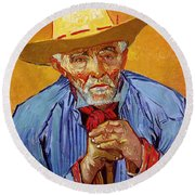 Portrait Of Patience Escalier Round Beach Towel