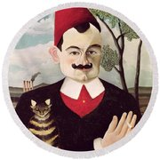 Portrait Of Pierre Loti Round Beach Towel