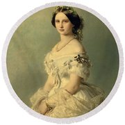 Portrait Of Princess Of Baden Round Beach Towel