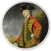 Portrait Of Sir Gerard Napier Round Beach Towel