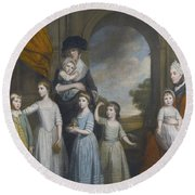 Portrait Of The Children Of William Round Beach Towel