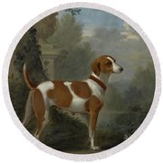 Portrait Of The Duke Of Hamilton Hound Round Beach Towel
