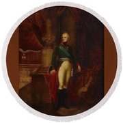 Portrait Of The Emperor Alexander Round Beach Towel