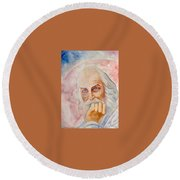 Portrait Of The Us-american Poet Walt Whitman Boris Grigoriev Round Beach Towel