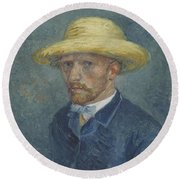 Portrait Of Theo Van Gogh Paris, Summer 1887 Vincent Van Gogh 1853  1890 Round Beach Towel