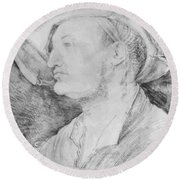Portrait Of Ulrich Varnbiiler 1522 Round Beach Towel