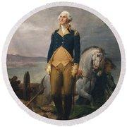 Portrait Of Washington Round Beach Towel