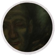 Portrait S. B. Round Beach Towel