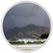 Portsalon County Donegal Ireland  Round Beach Towel