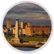 Portsmouth And Southsea England  Round Beach Towel