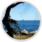 Portsmouth Harbor Light Round Beach Towel