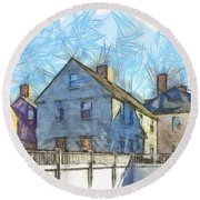 Portsmouth New Hampshire Pencil Round Beach Towel