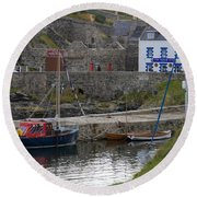Portsoy Harbour Round Beach Towel