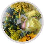Posies Picturesque Round Beach Towel