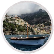 Positano By The Water Round Beach Towel