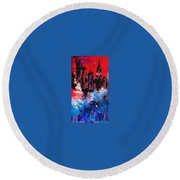 Postapocalyptic New York Round Beach Towel