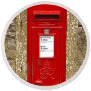 Postbox Round Beach Towel