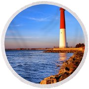 Postcard From Barnegat  Round Beach Towel