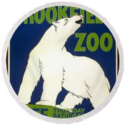 Poster For The Brookfield Zoo Round Beach Towel