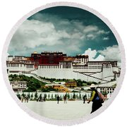 Potala Palace. Lhasa, Tibet. Yantra.lv Round Beach Towel