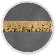 Potawatomi Medicine Stick Round Beach Towel