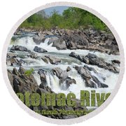 Potomac River Round Beach Towel