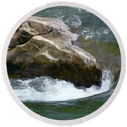 Potomac River Rapids Round Beach Towel