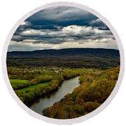 Potomac River Valley - West Virginia Round Beach Towel