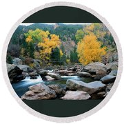 Poudre Gold Round Beach Towel