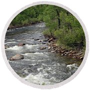 Poudre River 3 Round Beach Towel