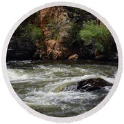 Poudre River Round Beach Towel